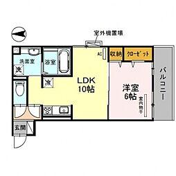 CozyCote西野(コージーコート)[303号室号室]の間取り