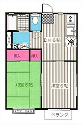 ハビテーションクレイン[2階]の間取り