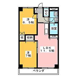 タシロハイツ[2階]の間取り