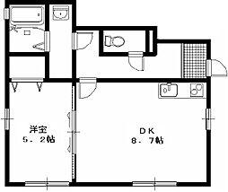 シャルムハイツ II[1号室号室]の間取り
