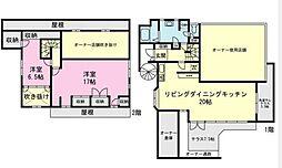 [テラスハウス] 神奈川県横浜市磯子区田中2丁目 の賃貸【/】の間取り