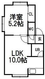 メープル弐番館[2階]の間取り