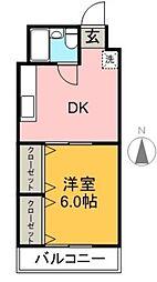 一宮ビル[143号室]の間取り