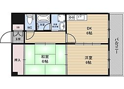 テラート2[1階]の間取り
