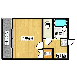 岡山県岡山市中区長岡の賃貸アパートの間取り
