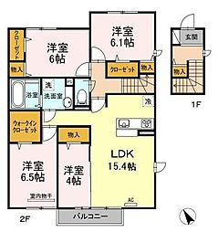 D-room城野駅[2階]の間取り