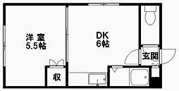 トータスプラザ[312号室]の間取り