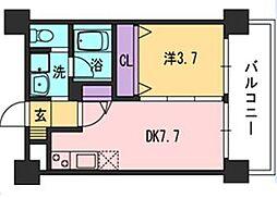 コンダクト福岡東[8階]の間取り