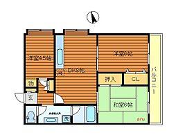 東京都三鷹市新川6丁目の賃貸マンションの間取り