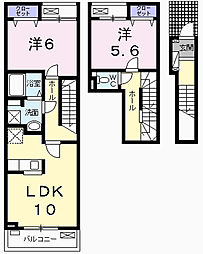 東京都青梅市今寺4丁目の賃貸アパートの間取り
