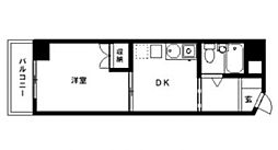 レジデンス富士森[4階]の間取り