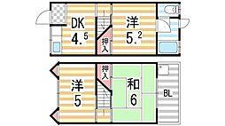 [テラスハウス] 大阪府四條畷市雁屋北町 の賃貸【/】の間取り