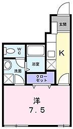 東京都目黒区南1丁目の賃貸アパートの間取り