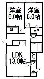 ルミエール 2・1[2階]の間取り