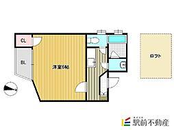 コンフォートベネフィス六本松1 六本松駅[1階]の間取り