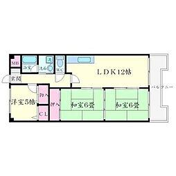 ハイツ東豊台(とうほうだい)[1階]の間取り