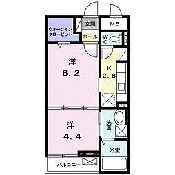 東京都東久留米市幸町4丁目の賃貸マンションの間取り