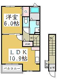埼玉県川口市末広3丁目の賃貸アパートの間取り