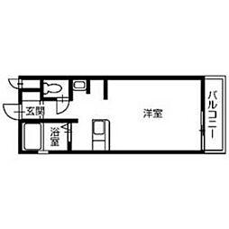 香川県高松市築地町の賃貸マンションの間取り
