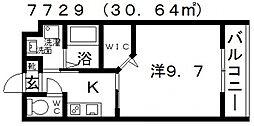 センターフィールドV[203号室号室]の間取り
