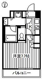 ルーブル東武練馬弐番館 3階1Kの間取り