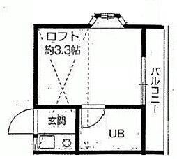 東京都板橋区赤塚3の賃貸アパートの間取り