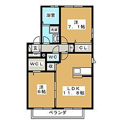 銀河A[1階]の間取り