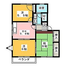 プロシードKEN A[2階]の間取り