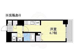 HF駒沢公園レジデンスTOWER 10階ワンルームの間取り