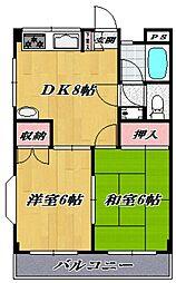 第2ゴージャスライフマンション[105号室号室]の間取り