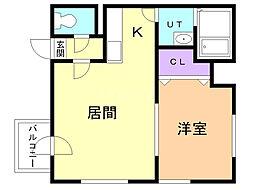 サムティレジデンス円山公園 8階1LDKの間取り