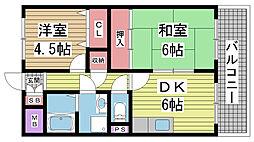 KOBE兵庫壱番館[603号室]の間取り