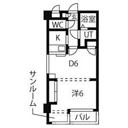 オオタ大針ビル[2階]の間取り