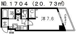 Mヴィレッヂ寺田町[801号室号室]の間取り