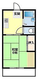 愛知県豊田市青木町3丁目の賃貸アパートの間取り