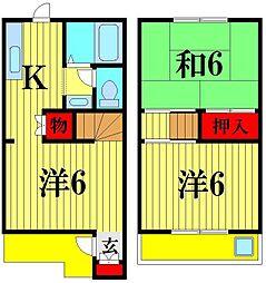 [テラスハウス] 千葉県松戸市稔台2丁目 の賃貸【/】の間取り