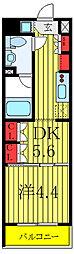 セジョリ板橋坂下II 3階1DKの間取り