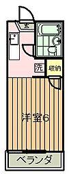 クレッセントハウス[2階]の間取り