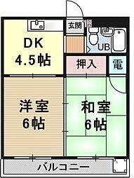 第二平木マンション[302号室号室]の間取り