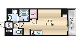 エスパシオ・コモド大阪新町[303号室]の間取り