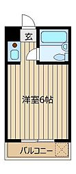 東和プラザA館・B館[B501号室]の間取り
