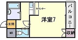 シャンブルMITO[1階]の間取り