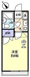 千葉県八千代市勝田台7丁目の賃貸アパートの間取り