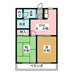 ベルメゾン本田[7階]の間取り