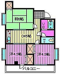 藤コーポ[205号室]の間取り