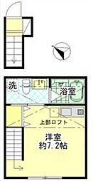 東京都足立区綾瀬一丁目の賃貸アパートの間取り