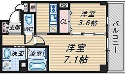 仮称)豊中市中桜塚マンション[203号室]の間取り