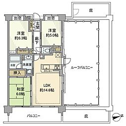 日神パレステージ蕨リノプレイス[7階]の間取り
