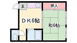 ОKマンション[401号室]の間取り