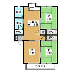 パル山崎[1階]の間取り
